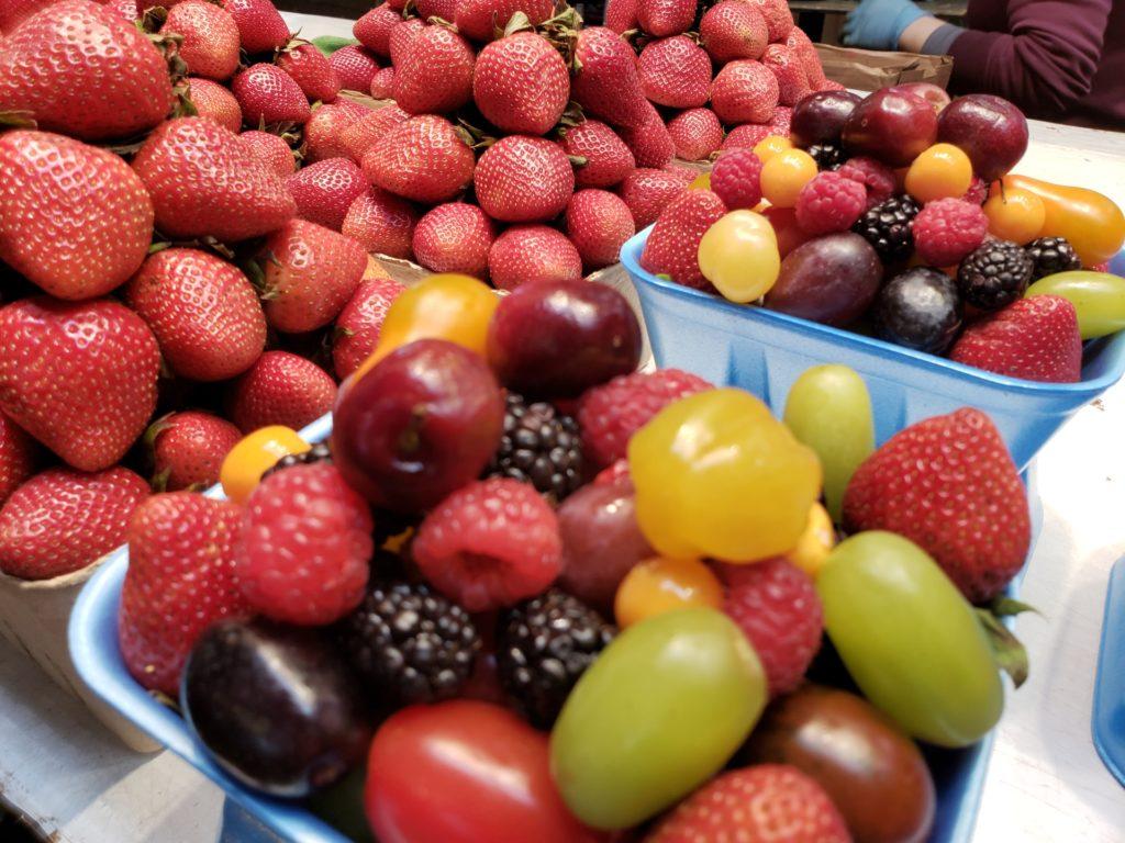Fruits locaux - marché - Meuse